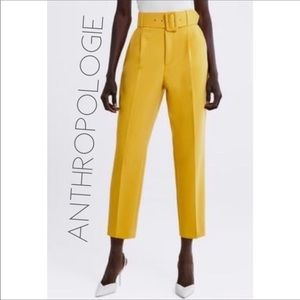 NWOT Anthropologie high waisted, belted wide leg